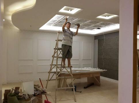 客厅餐厅吊顶分割
