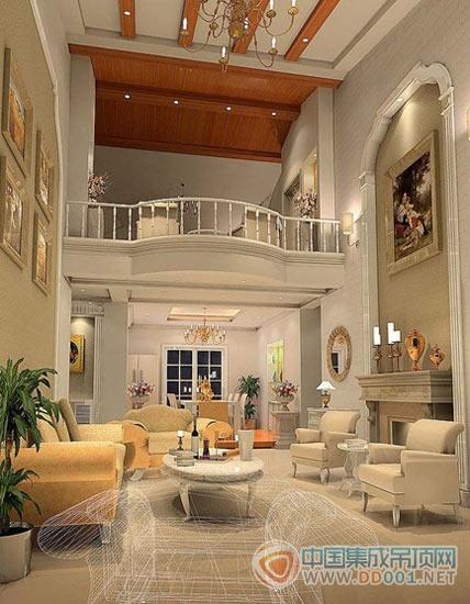 客厅吊顶欧式风格效果图大全|集成吊顶效果图库-中国