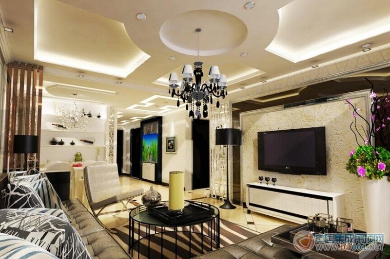 东南亚风格客厅吊顶装修效果图赏析|集成吊顶效果