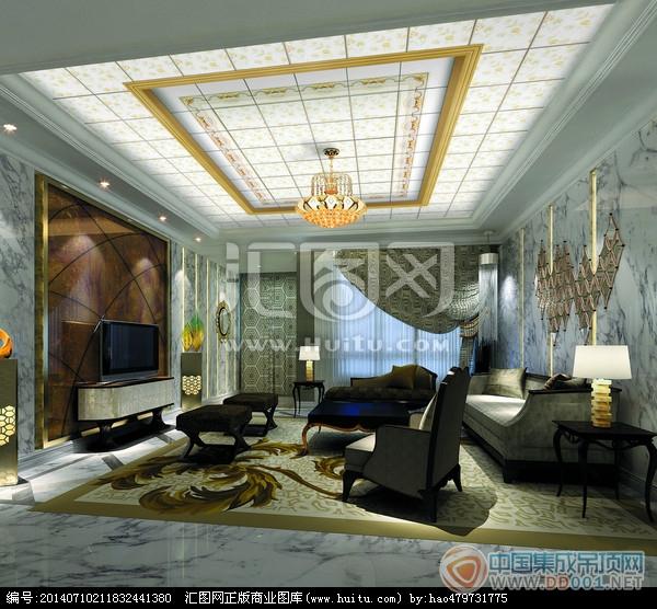 各种客厅吊顶装修效果图集赏析|集成吊顶效果图库