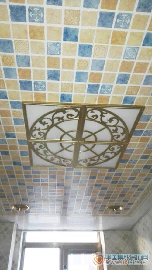 美赫欧式吊顶卫生间系列产品实景图|集成吊顶效果