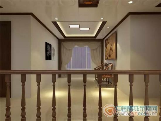 法狮龙吊顶:中式风格复式楼整套设计案例赏析