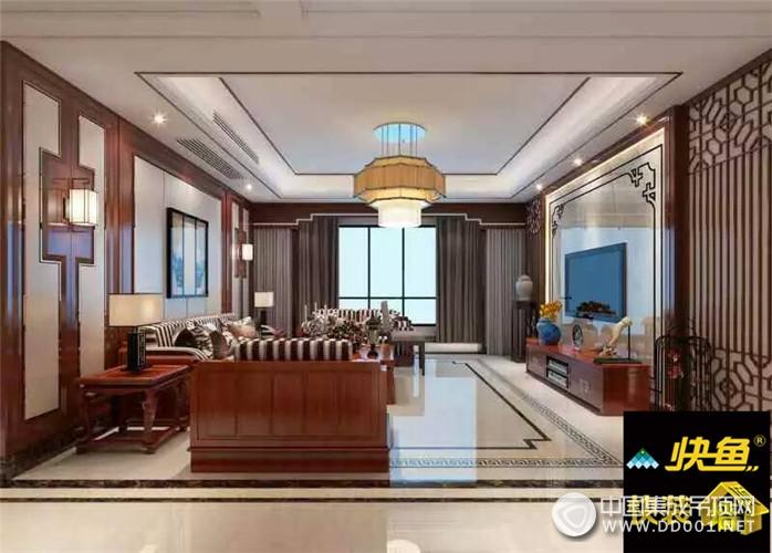 快鱼快装墙顶客厅装修图|集成吊顶效果图库-中国集成