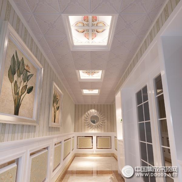 古典欧式风格融入苏州园林花窗生活元素,采用弧形