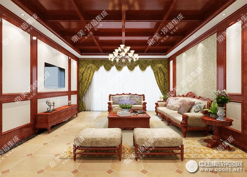鼎美顶墙集成客厅装修效果图赏析