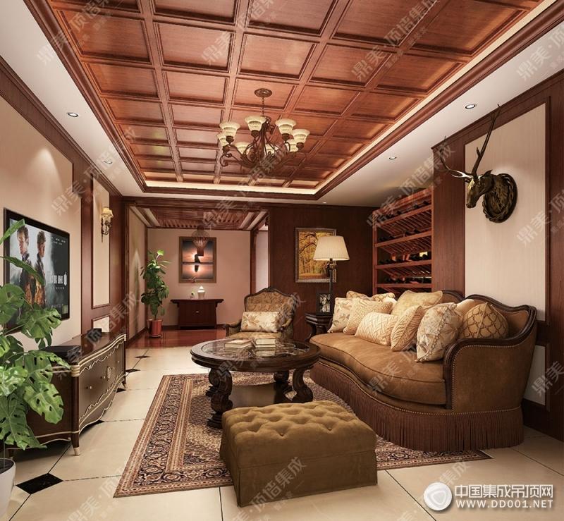 鼎美顶墙集成美式风格装修效果图
