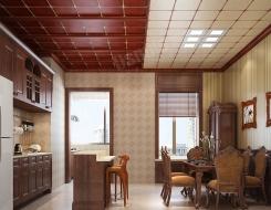 顶善美净化吊顶餐厅系列装修效果图