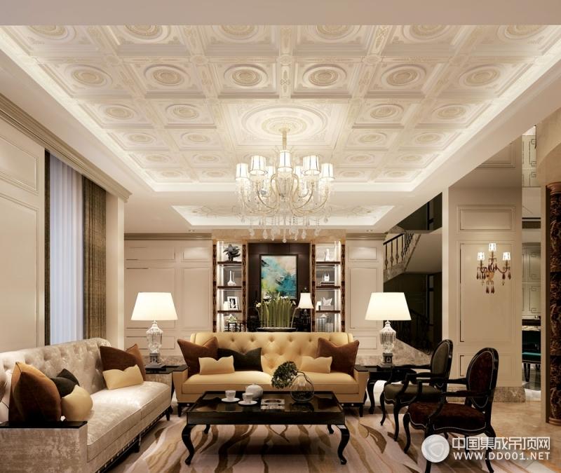索菲尼洛复式吊顶陆风5客厅系列效果图