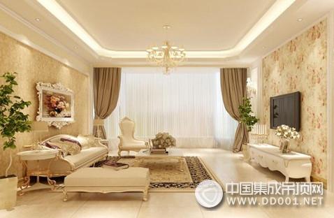 客厅吊顶常用的材料有木质三合板,石面纸膏板,装饰石膏板,塑料
