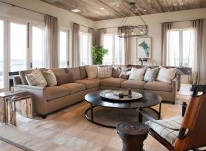 美式风格质朴清新客厅吊顶装修效果图