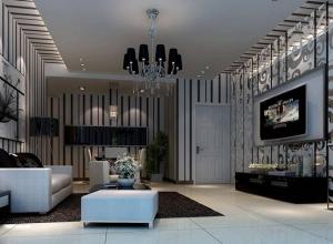 古典三居室客厅吊顶效果图欣赏