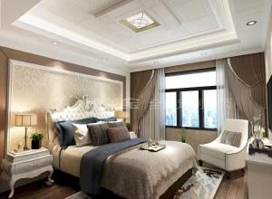 德莱宝吊顶简欧系列卧室,简约白的波点而饰