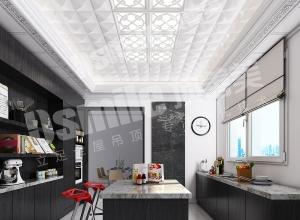 顶善美吊顶2018最新厨房吊顶造型装修效果图案例