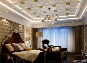 来斯奥全屋吊顶卧室效果图 现代欧式吊顶装修效图