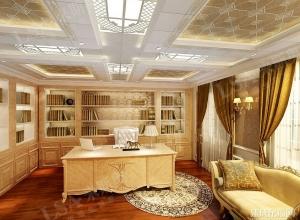来斯奥吊顶书房效果图 来斯奥书房吊顶最新装修图