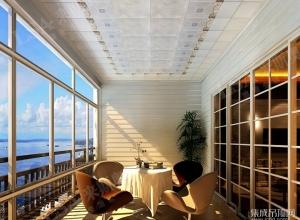 来斯奥吊顶阳台效果图 阳台吊顶最新装修图