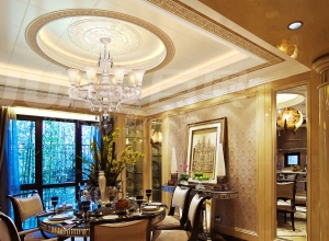 巨奥铝顶墙餐厅装修图 餐厅吊顶效果图大全