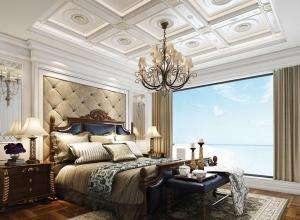 欧式风格吊顶效果图赏析 宝仕龙欧式风格卧室吊顶