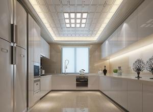 二款现代风格厨房吊顶装修案例  宝仕龙全景顶厨房吊顶