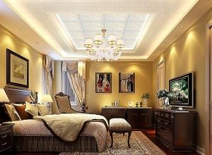 奇力吊顶客厅卧室装修效果图 客厅新欧式装修案例