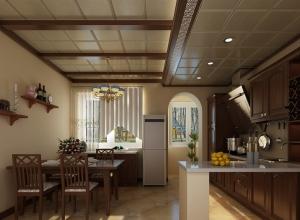 品格集成吊顶餐厅装修效果图 现代餐厅吊顶装修案例