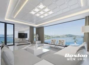 宝仕龙顶墙简约风格客厅与卧室的完美结合 客厅吊顶装修实例
