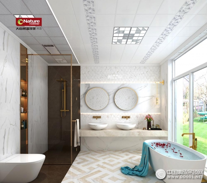 大自然温莎堡三室一厅现代风格装修案例