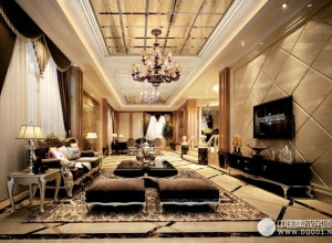 索菲尼洛复式吊顶陆风4客厅系列效果图