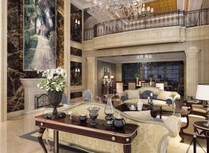 世纪豪门生态石材装修效果图客厅系列