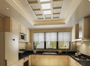 奔腾解构吊顶厨房新装修效果图