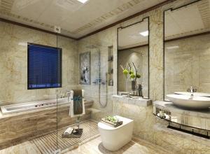 二室一厅美式吊顶装修效果图,法狮龙美式风格装修效图