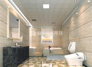 容声集成吊顶卫生间装修效果图,卫生间吊顶装修案例