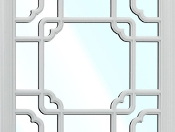 欧美健康美学吊顶-镜面窗格-银