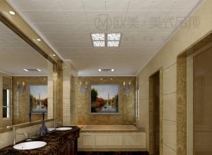 欧美集成吊顶现代风卫生间装修效果图,卫生间吊顶装修图