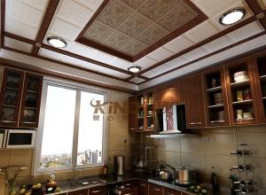 新美式风格集成吊顶装修效果图,今顶美式客厅装修案例