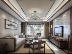 帝王至尊顶墙-新中式客厅