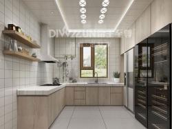 帝王至尊吊顶-工业风格现代厨房