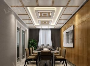 来斯奥餐厅吊顶装修效果图,各风格餐厅吊顶装修案例