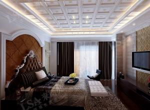 来斯奥卧室吊顶装修实景,卧室吊顶装修效果图