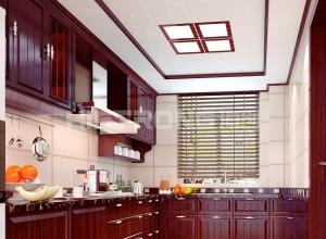 海创集成吊顶厨房装修效果图,厨房吊顶装修案例