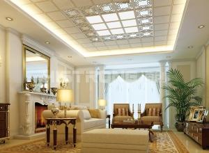 海创顶墙整体定制客厅装修效果图,客厅吊顶效果图