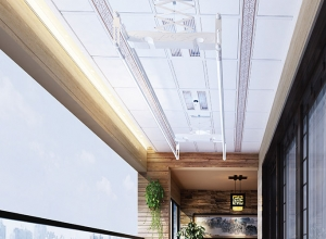 美尔凯特阳台吊顶装修效果图,阳台吊顶晾衣机装修案例