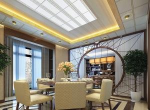 美尔凯特餐厅吊顶装修效果图,餐厅吊顶装修案例