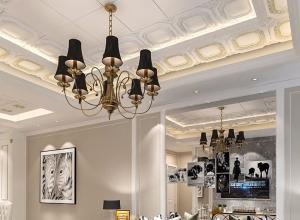 欧式风客厅吊顶装修效果图,友邦吊顶欧式客厅装修图