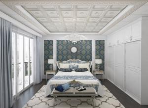 世纪豪门吊顶卧室装修实景图,欧式卧室吊顶装修效果图