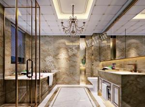 美赫浴室吊顶装修案例,欧式风格卫生间吊顶效果图