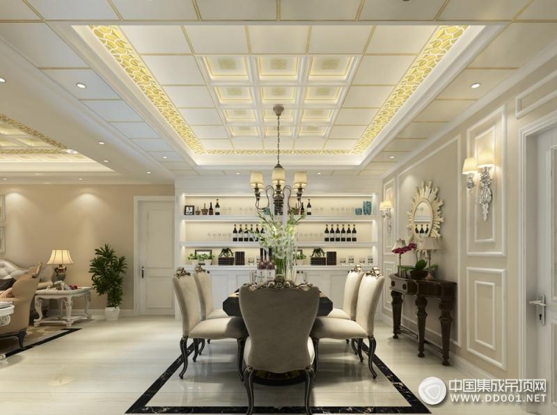 保丽卡莱二室一厅欧式风格装修效果图,欧式吊顶装修案例