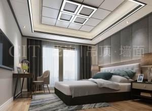180㎡四室装修效果图,花旗吊顶现代风格装修案例