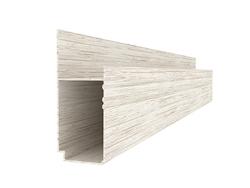 D型方管边角2.8米(白木纹)