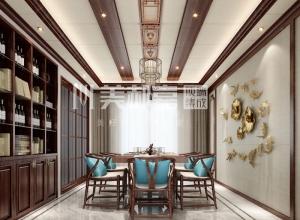 美郝嘉时尚家居顶餐厅中式风格装修效果图